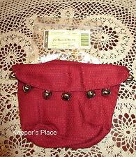 Longaberger 2011 Holiday Helper Jingle Bells Basket Liner With Bells New In Pack