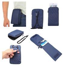 para BLU VIVO 5 Funda Azul Multiusos XXM 18x10cm Cinturon Universal