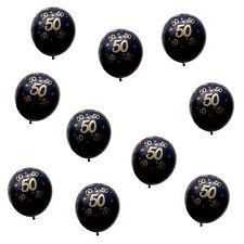 10x Luftballons Zahl 50 Geburtstag Jubiläum Goldene Hochzeit Ballons Schwarz