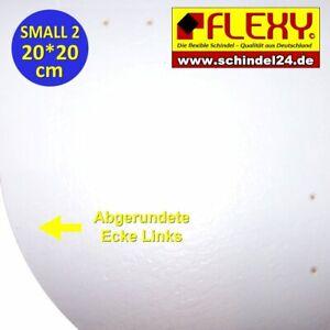 1 Flexy Small 2 Schindeln links weiss mit Struktur (Kunststoff)