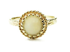 14k Yellow Gold White Stone Ladies Ring ~ 2.1g
