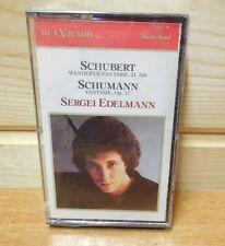SCHUBERT SCHUMANN SERGEI EDLEMANN  Cassette  New sealed Wanderer-fantasie