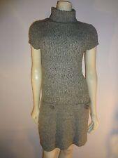 Glimmer by J.J.Basics Green&Gray Short Sleeve Turtleneck Knit Dress Sz L Juniors