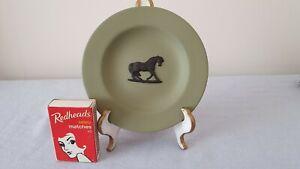 Rare Wedgwood Jasperware Sage Green The Stubb's Horse Miniature Plate