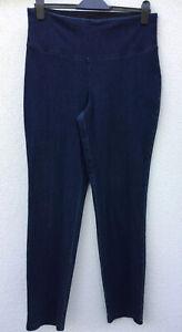 Women with Control Tummy Control Stretch Denim Regular Ankle Trousers Indigo L