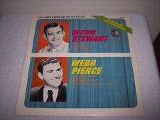 WYNN STEWART & WEBB PIERCE IN PERSON COUNTRY & WESTERN STARS LP~ AK-211 RECORD