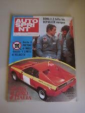 AUTOSPRINT 42/1974 - Depailler / Fittipaldi / Formula 2 / GP Usa / Giro d'Italia