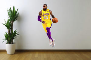 Lebron James Los Angeles Lakers Fathead Style Wall Decal Sticker