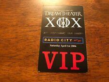Dream Theater - Radio City Music Hall - 20th Anniversary Tour 2005/06 - VIP Pass