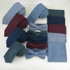 Krawatte Set schmal Baumwolle klassisch Fliege Einstecktuch