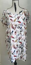 Womens Top Size 16 Blouse Freez Brand Soft Rayon Feel Feathers Print Long