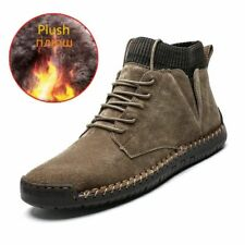 Brand Winter Warm Men Snow Boots High Quality Cow Suede Man Ankle Boots Fur Men