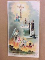 2-San Gesù Redentore Preghiera per le Anime Purganti. Santino Holycard Cromolito