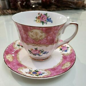 Beautiful Pink Vintage Style Robert Gordon  Tea Cup & Saucer Australia
