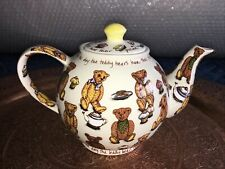 More details for cardew teapot ted tea 2 pint teapot teddy bears
