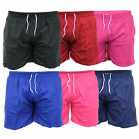 Mens Plain Swimming Shorts Beach Trunks Surf Board Mesh Lined Summer Casual New