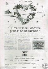 Publicité advertising 2000 Avion Concorde avec TMR