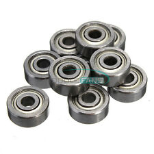 10PCS 623ZZ 3x10x4mm Bearing Miniature Ball Shielded Radial Bearings Silver M