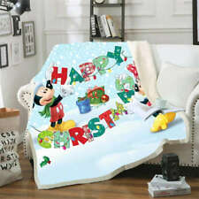 Mickey Mouse Decorates Christmas 3D Warm Plush Fleece Blanket Picnic Sofa Couch