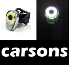 CARSONS front head USB rechargeable bike LED light - cycling white lights moon