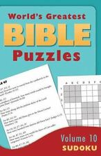 WORLD'S GREATEST BIBLE PUZZLES--VOLUME 10 (SUDOKU)-ExLibrary