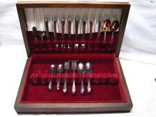 36 pc Set Rogers Silver Plate Flatware Exquisite Pattern Silverplate w/Box