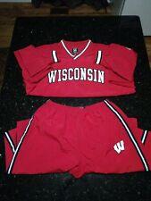 Wisconsin Badgers Football Basketball Team WarmUp Suit Jacket Sz Xl Pants Sz L