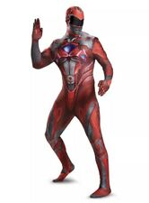 Adult Men's Saban's Power Rangers RED Ranger Full Bodysuit Costume Size XL