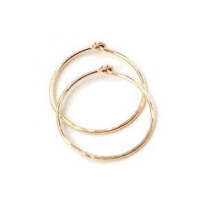 Thin Hammered Hoop Earrings Handmade Womens Jewelry Gifts