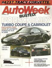 November 7 2005 Autoweek Porsche 997 Turbo Coupe Cabriolet 1969 Fiat 124 Sport