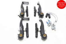 Pair Tektro RX1 85mm Mini V Brakes MTB Bmx Drop Bar Convert From Canti Lever Bra