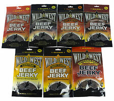 Wild West Beef Jerky All Flavours All Sizes Original Peppered 25g 50g 85g
