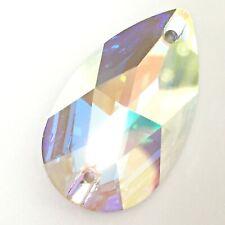 Genuine SWAROVSKI 3230 Pear Drop Flat Sew-On Stones Crystals Many Sizes