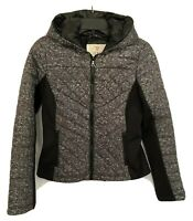 GUESS Quilted Puffer Jacket Color Black Gray Size S