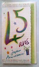 """B)Cartes """"Joyeux Anniversaire"""" 45 ans ! + enveloppes"""