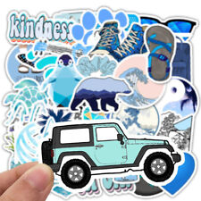 50 pcs Skateboard Stickers Graffiti Laptop VSCO Sticker Luggage Car Decals Blue