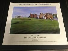 """THE 119TH OPEN CHAMPIONSHIP"" 1990 GOLF LITHOGRAPH ST ANDREWS OLD COURSE 24""X29"""