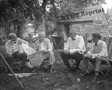 Historic Photo of Henry Ford & Edison-President Harding & Harvey Firestone  8x10