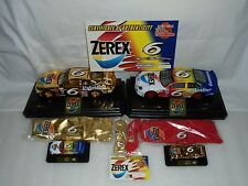 Mark Martin #6 Zerex 1999 Ford Taurus 4 Nascar Diecast Collectible Team 24k Set