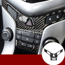 Carbon Fiber Center Console Button Panel Cover For Chevrolet Cruze 2009-2015