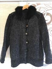 Damen Wintermantel Winterjacke Jacke Anorack Gr. 44 mit Leder und Pelz