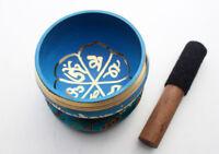 "Om Mani Padme Hum Mantra Painted Singing Bowl 3.5"""