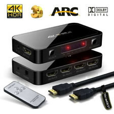 4X1 HDMI Switch with Audio Optical TOSLINK Out 4K Ultra HD 4 Port 4Kx2K Hot Sale