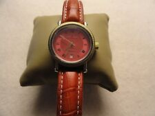 Jacques Cantani Quartz Water Resistant Watch - Red Dial and Band