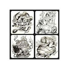 JAPANESE Style Tattoo Design Black & Grey 50-page Variety Flash Book Supply