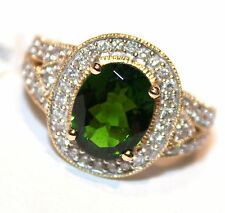 Beauty for Ashes 14K Gold 2.70ct Russian Chrome Diopside Ring .44ctw Diamonds 7