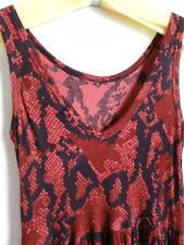 AIKO DAPHNE SLEEVELESS RAYON TANK DRESS, Red/black, Size XS, MSRP $132
