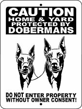 DOBERMAN PINSCHER  DOG ALUMINUM SIGN WARNING 2496HY2