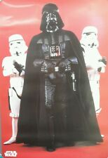 "1997 Star Wars ""Darth Vader"" Poster 25""x36""- Imported from Germany-UNUSED(FW),"