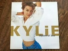 Rare Original 1990 Kylie Minogue Rhythm of Love Vinyl Album Record PWL + Poster